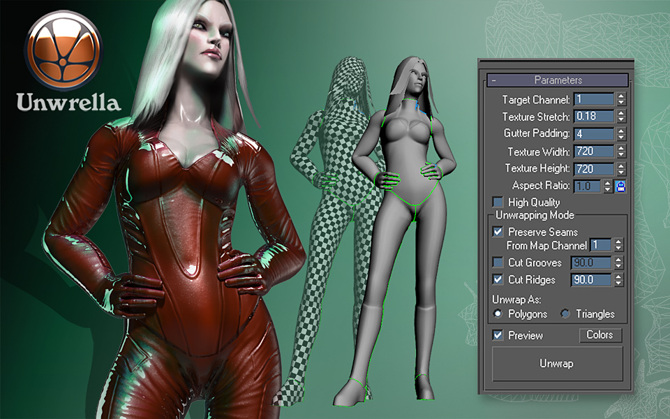 Unwrella Automatic Unwrapping Plugin for Autodesk Maya and Max