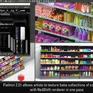 RedShift3D texture baking support