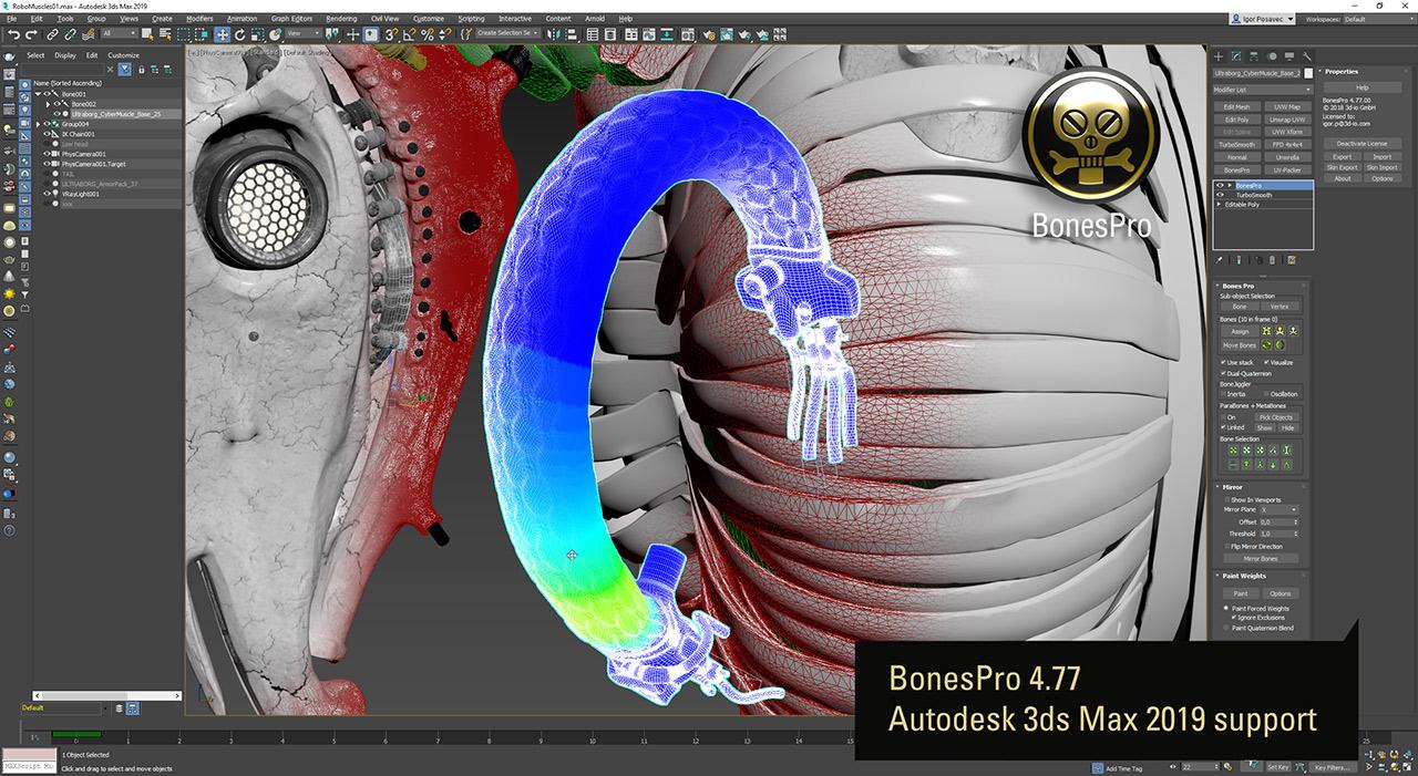 BonesPro 4.77 Autodesk 3ds Max 2019