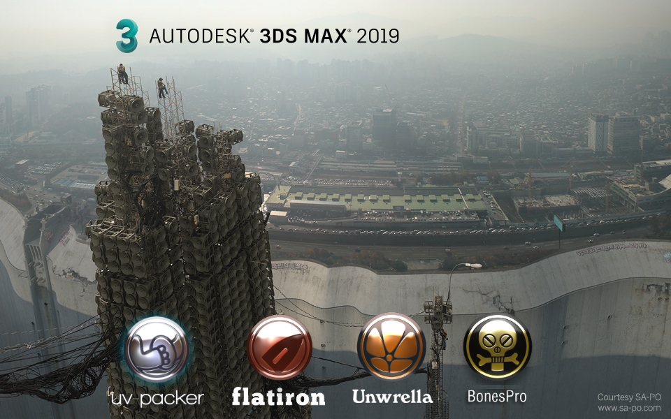 Unwrella, Flatiron, BonesPro and UV-Packer – 3d-io's toolset is ready for Autodesk's 3dsMax 2019!