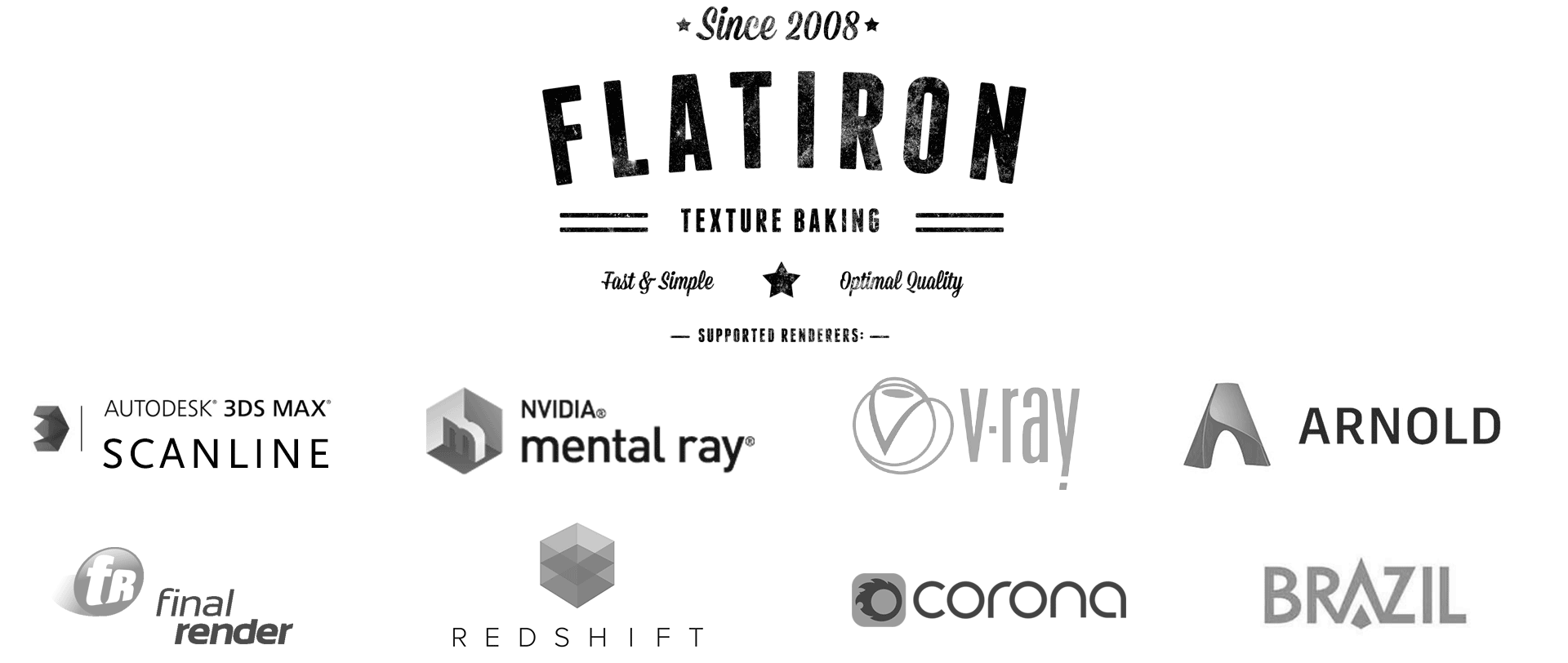 Flatiron 3D supported rederers